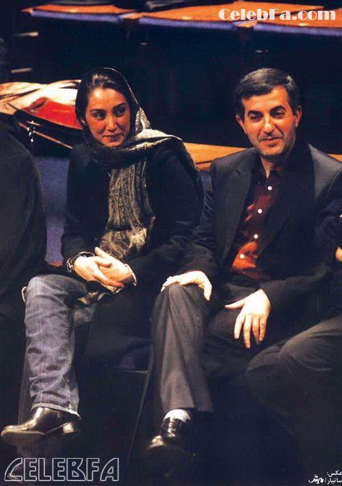 رحیم مشایی در کنار هدیه تهرانی